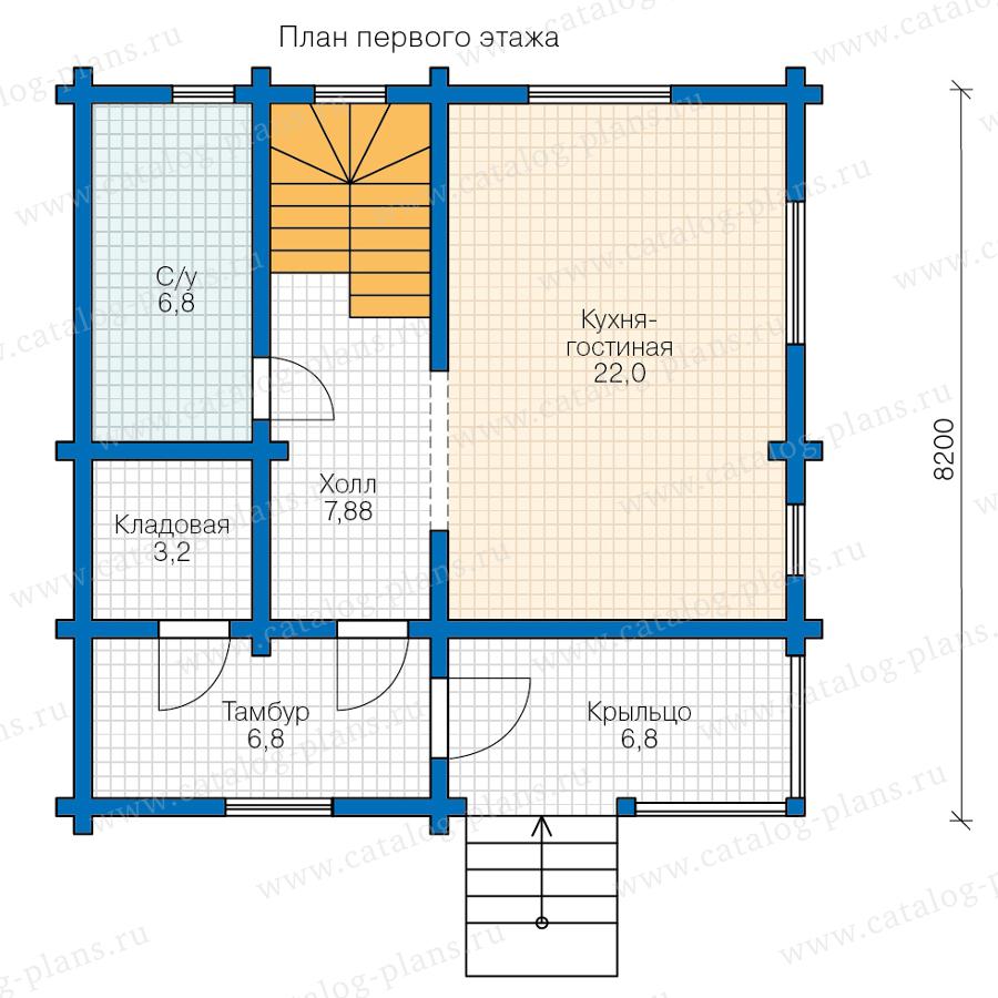 План 1-этажа проекта 13-95