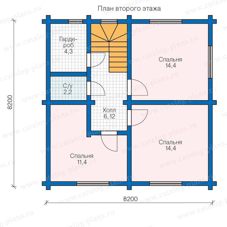 План 2-этажа проекта 13-95