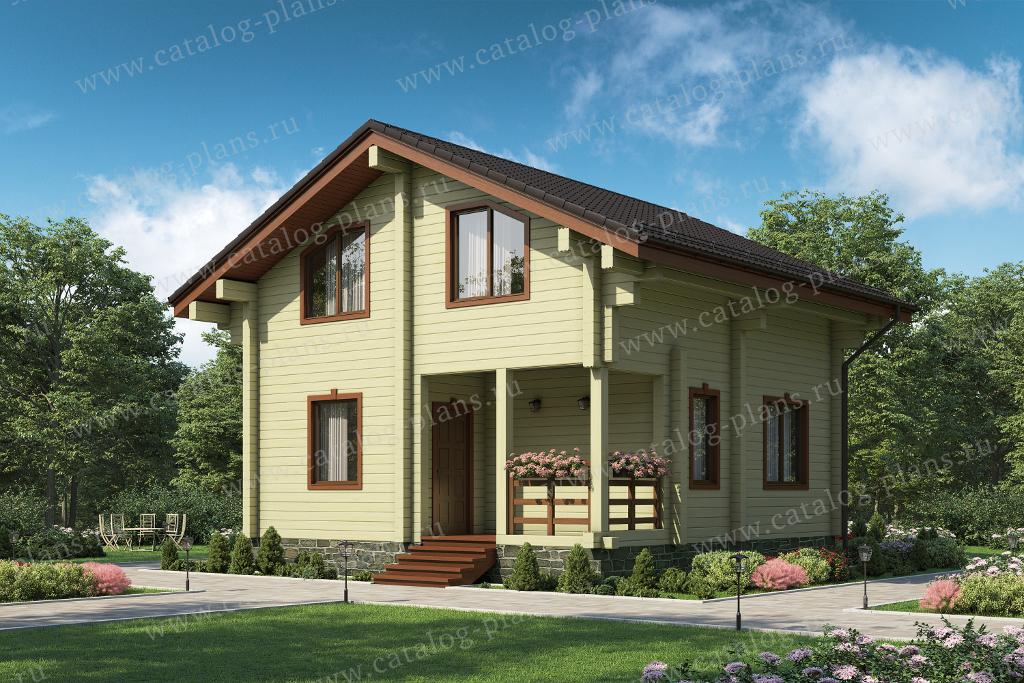 Проект жилой дом #13-95 материал - дерево, стиль