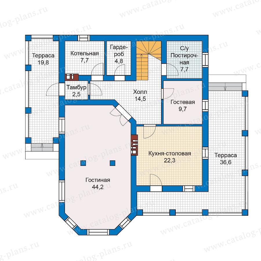 План 1-этажа проекта 57-04K