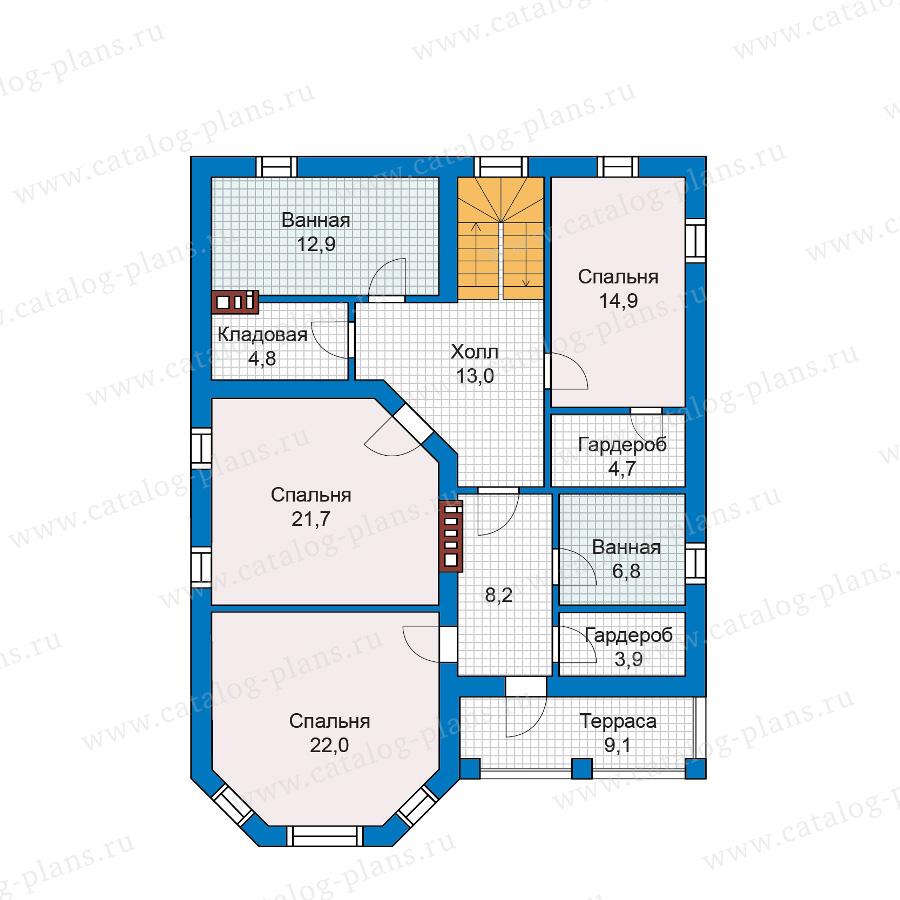 План 2-этажа проекта 57-04K
