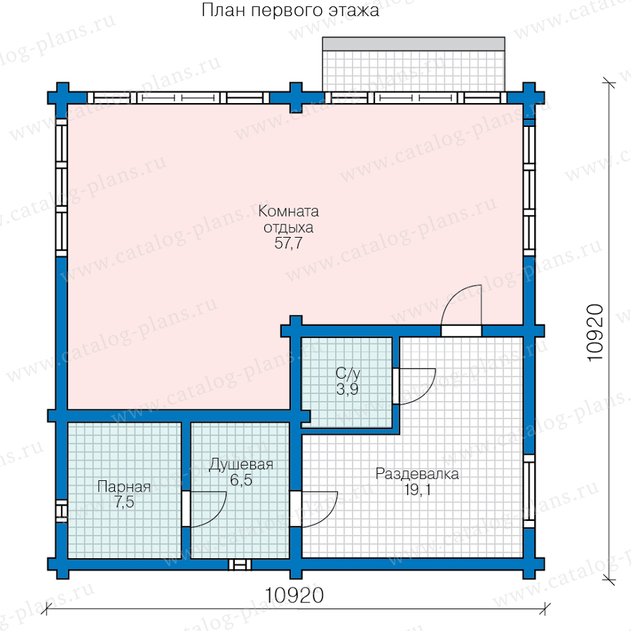 План 1-этажа проекта 90-78