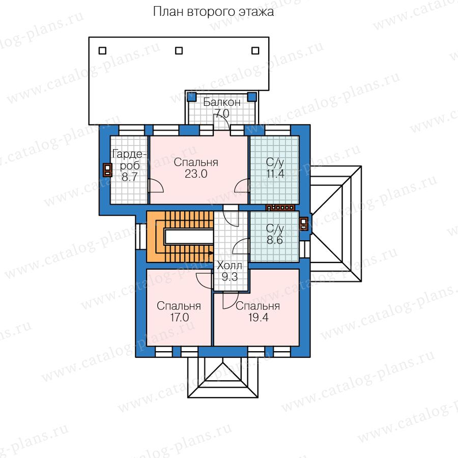 План 2-этажа проекта 45-54L