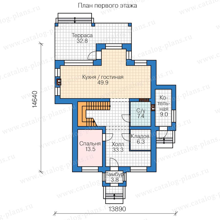 План 1-этажа проекта 45-54L