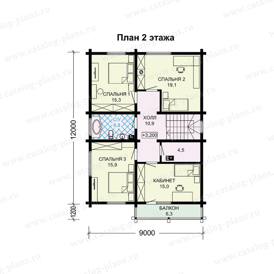 План 2-этажа проекта 13-96