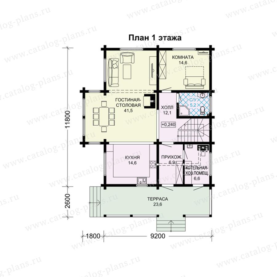 План 1-этажа проекта 13-97