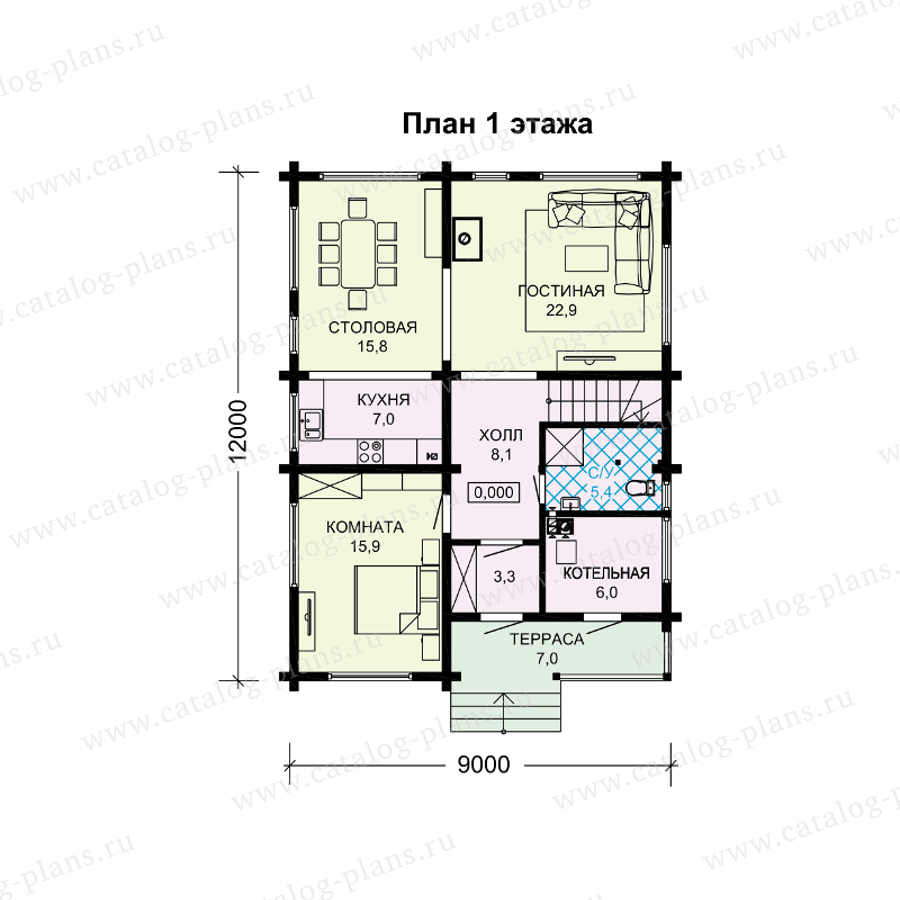 План 1-этажа проекта 13-96