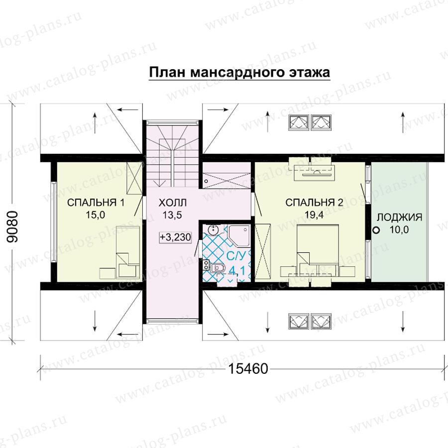 План 2-этажа проекта 13-98