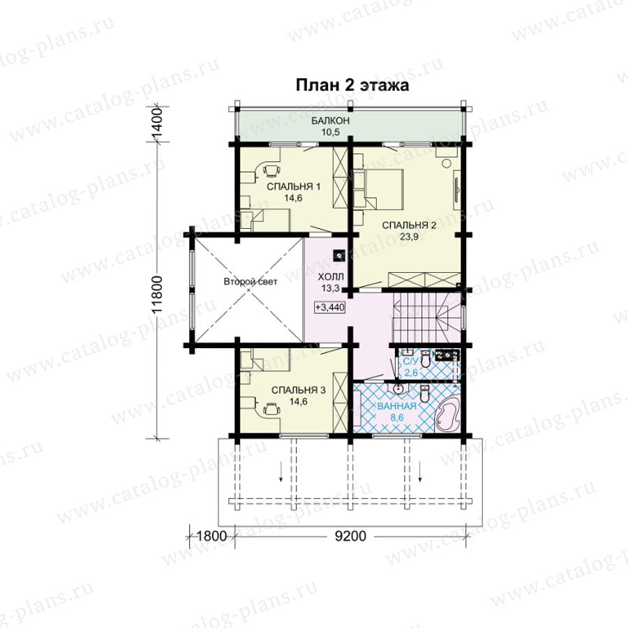 План 2-этажа проекта 13-97