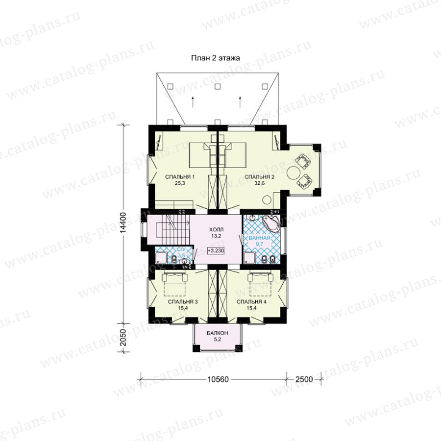 План 2-этажа проекта 61-39