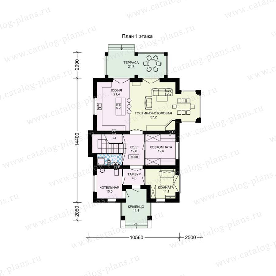 План 1-этажа проекта 61-39