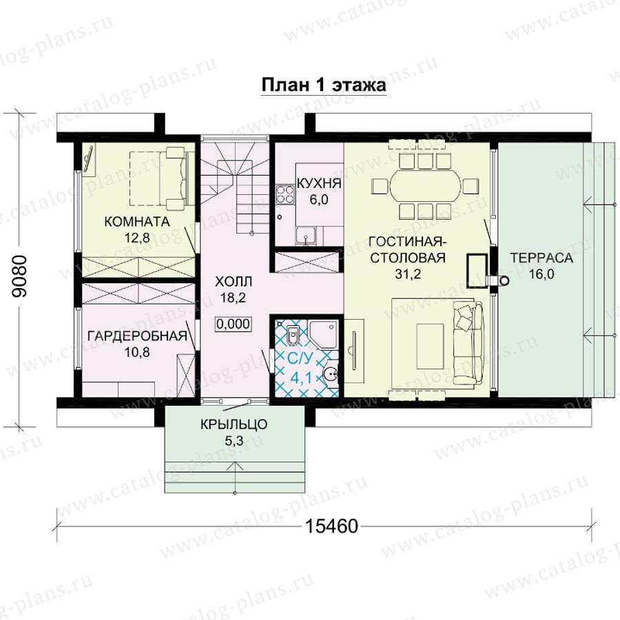 План 1-этажа проекта 13-98