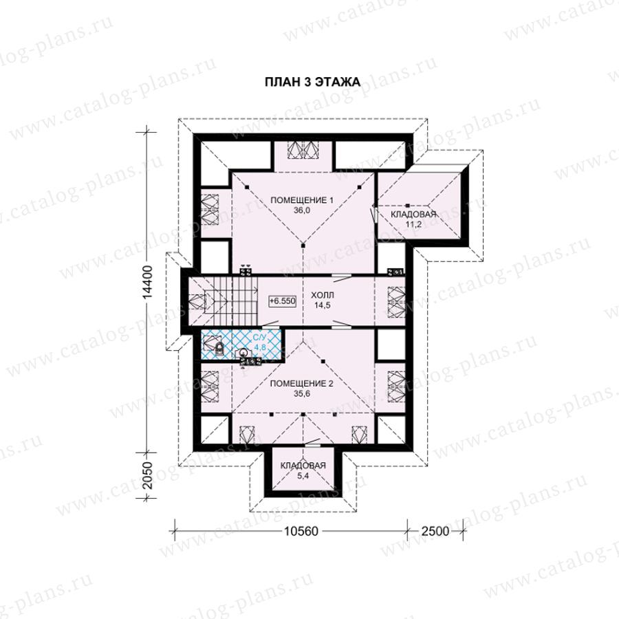 План 3-этажа проекта 61-39
