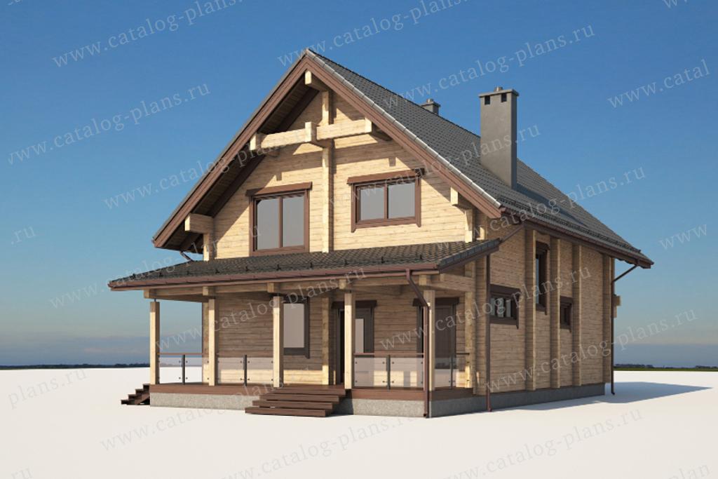 Проект жилой дом #13-97 материал - брус , стиль