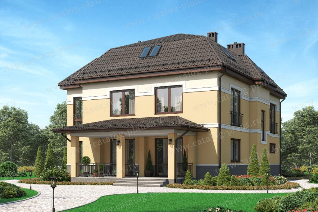 Проект жилой дом #61-39 материал - газобетон, стиль