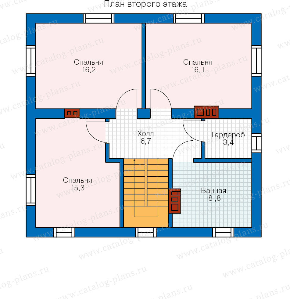 План 2-этажа проекта 40-04G
