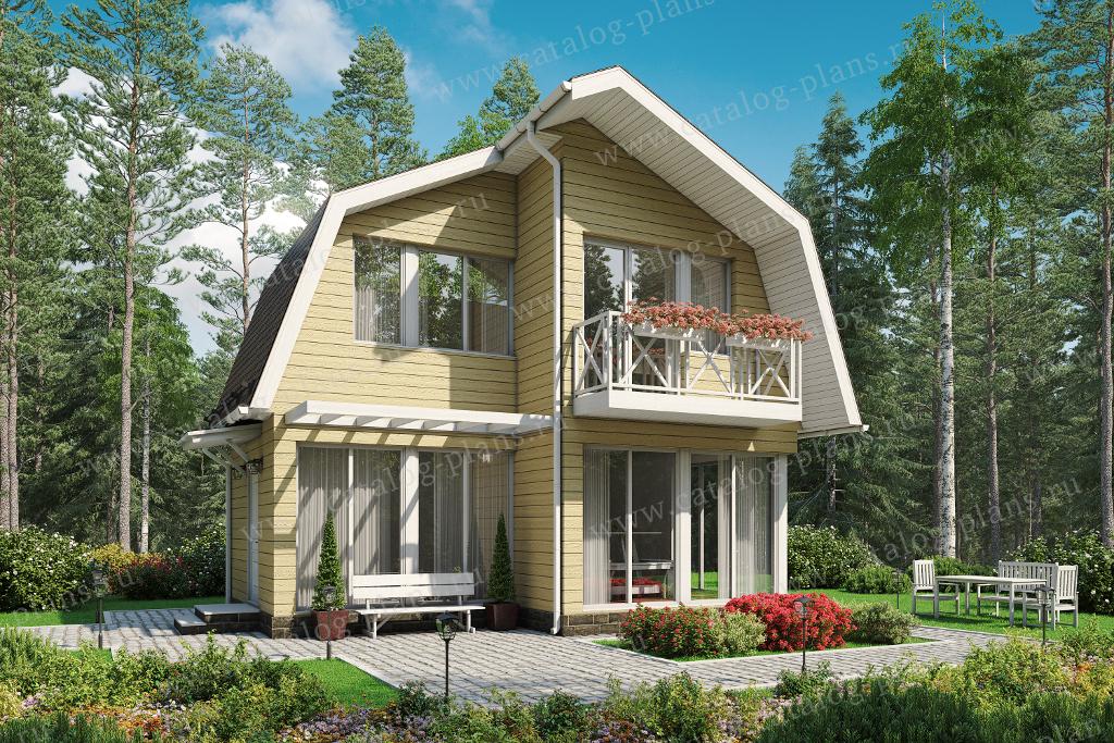 Проект жилой дом #90-70 материал - дерево, стиль