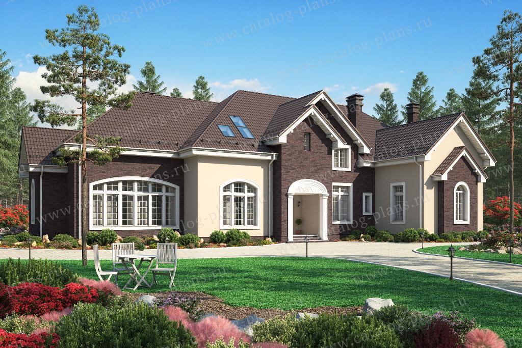 Проект жилой дом #45-19A материал - кирпич, стиль