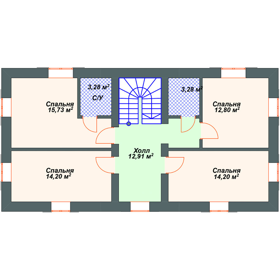 План 2-этажа проекта 28-08
