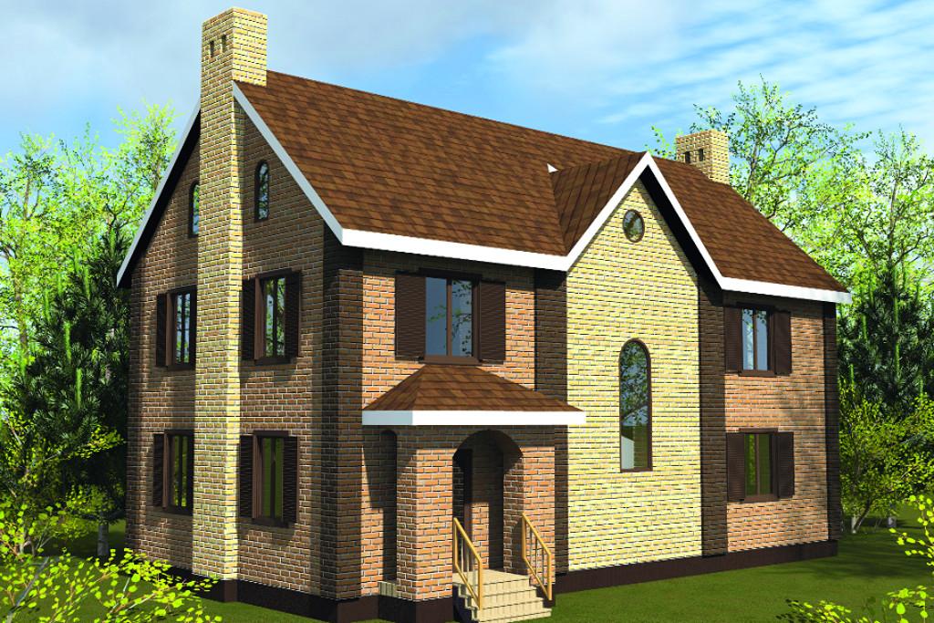 Проект жилой дом #28-08 материал - , стиль