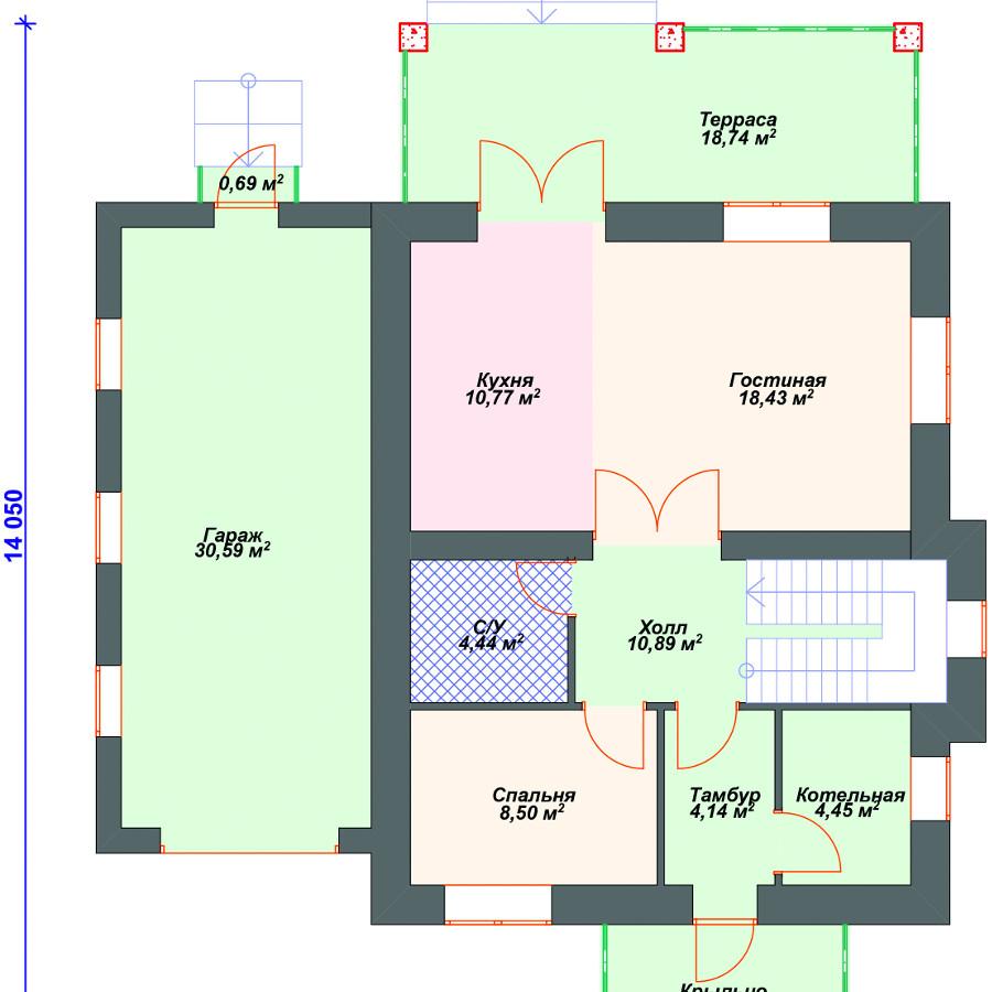 План 1-этажа проекта 28-10