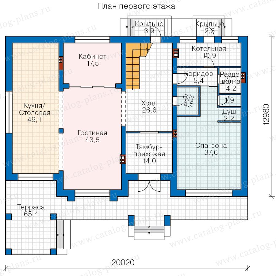 План 1-этажа проекта 45-64K1L