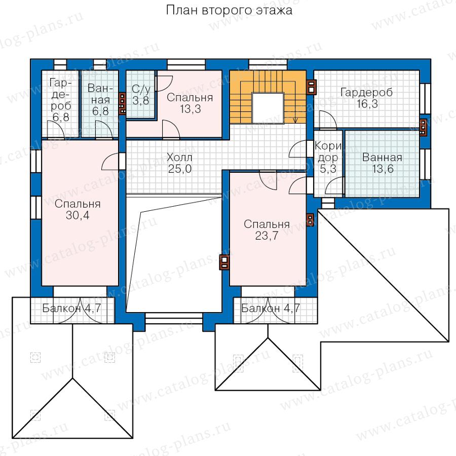 План 2-этажа проекта 45-64K1L