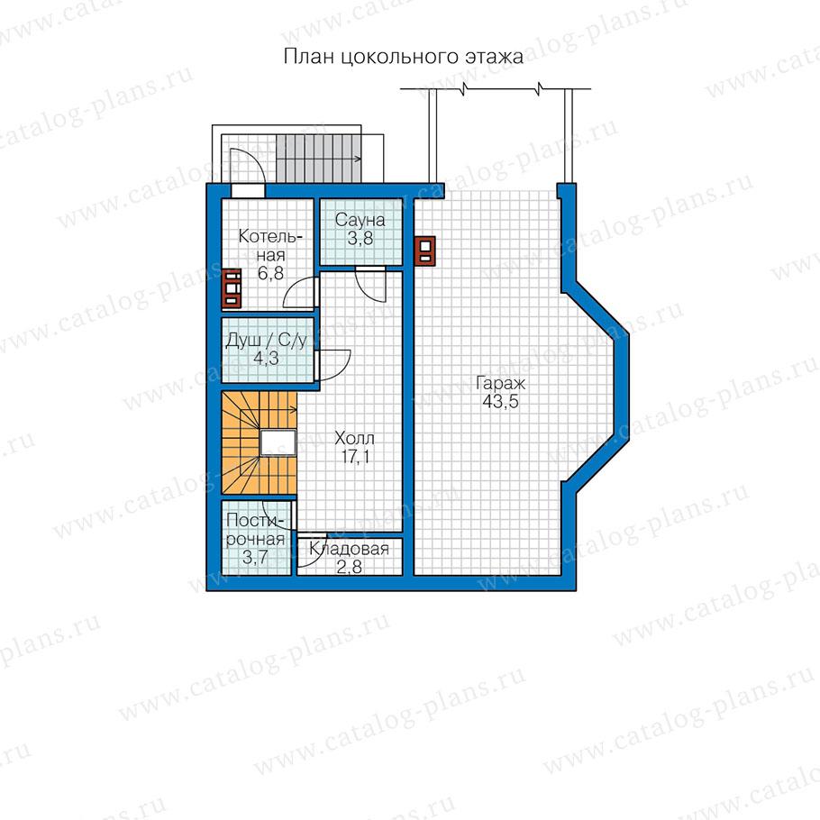 1этаж. План проекта №13-60