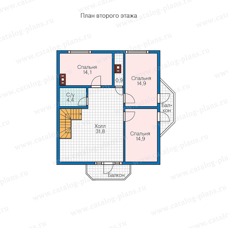 3этаж. План проекта №13-60