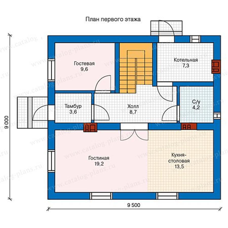 1этаж. План проекта №40-04A