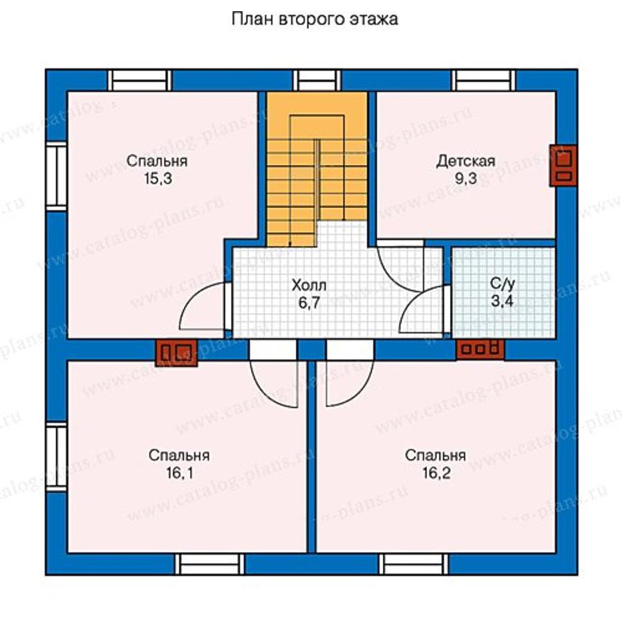 2этаж. План проекта №40-04A