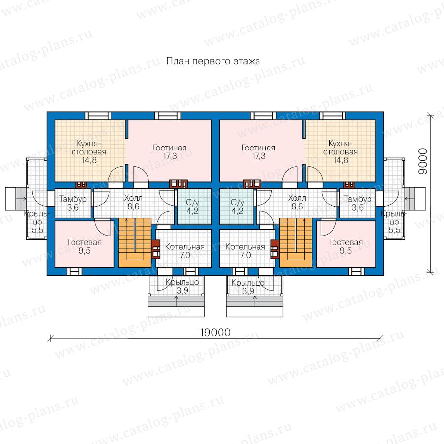 1этаж. План проекта №40-04W