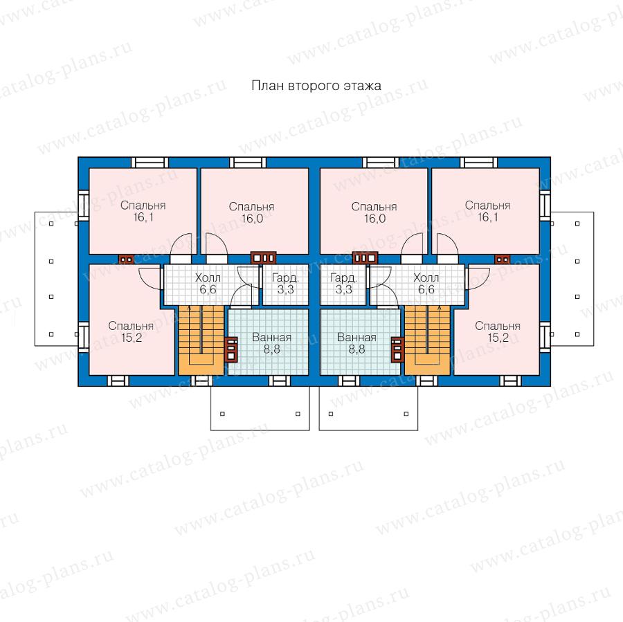2этаж. План проекта №40-04W