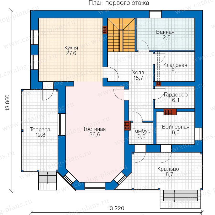 1этаж. План проекта №40-05A