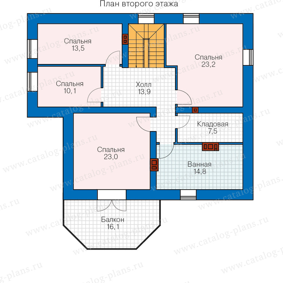 2этаж. План проекта №40-05A