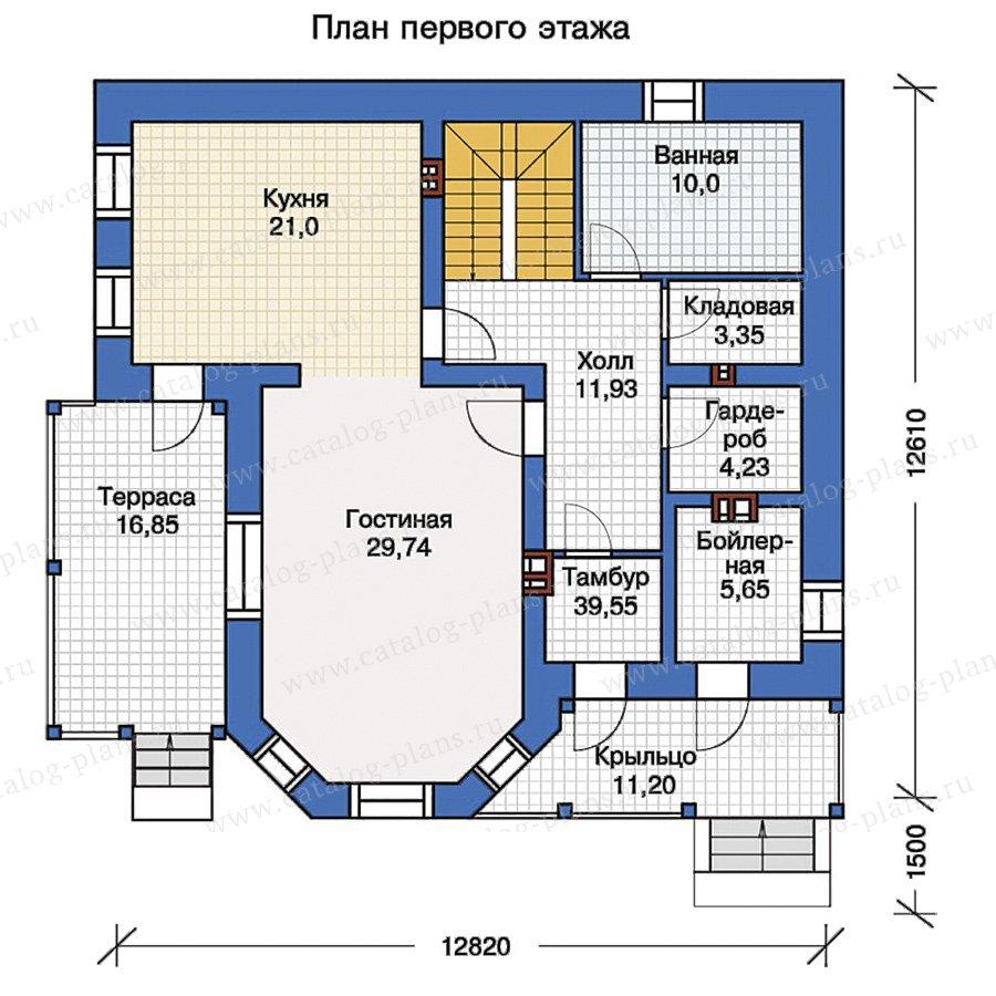 1этаж. План проекта №40-05G