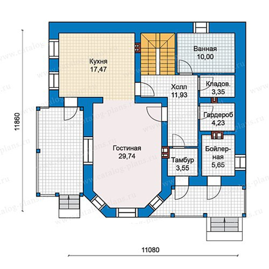 1этаж. План проекта №40-05L