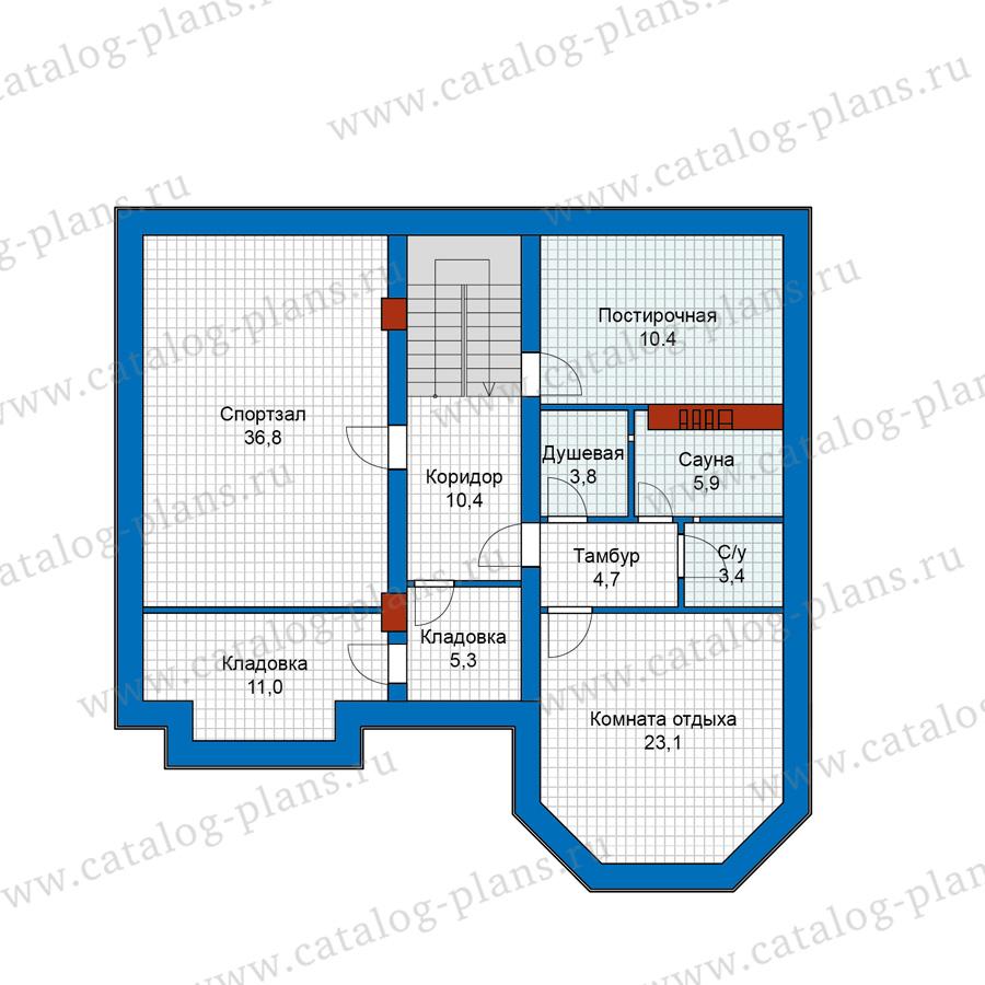 1этаж. План проекта №40-11AG