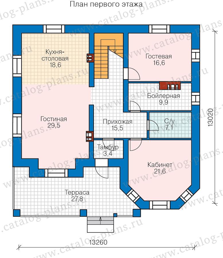 1этаж. План проекта №40-11DL
