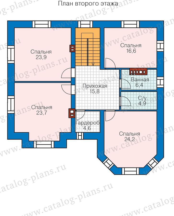 2этаж. План проекта №40-11DL