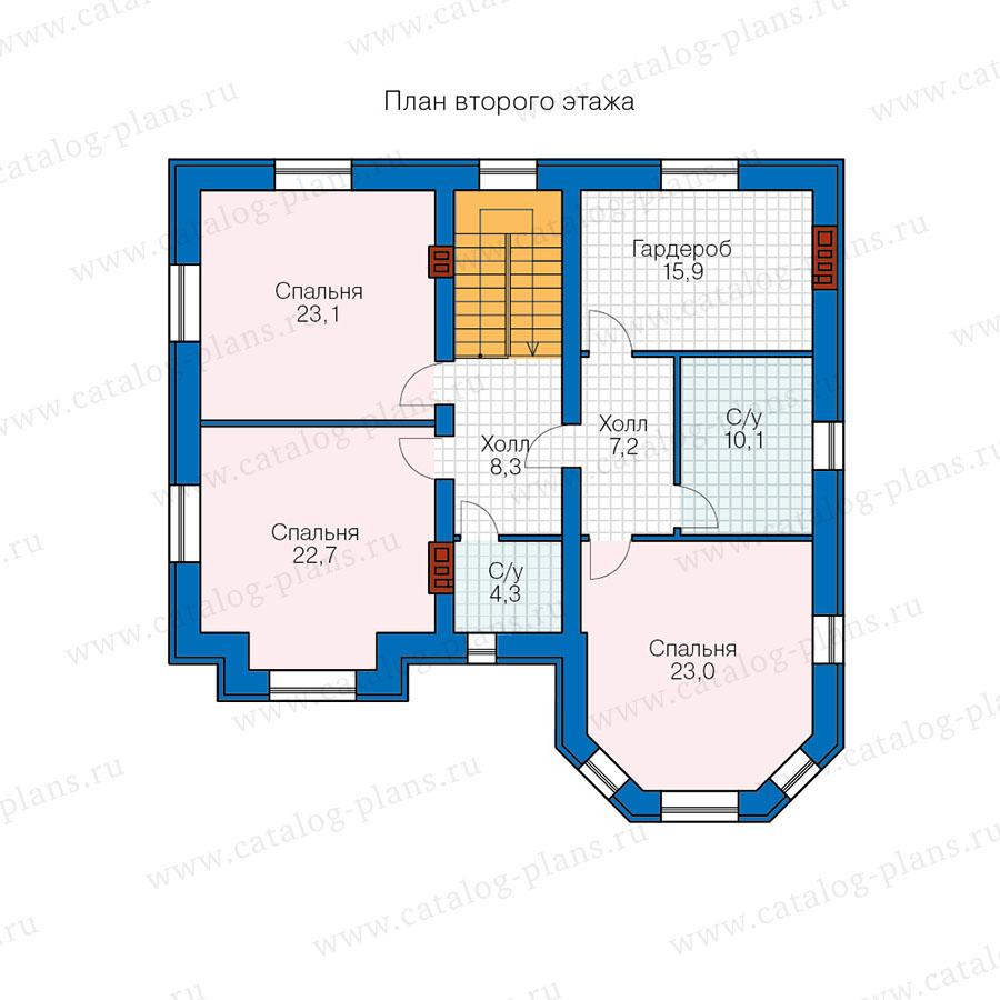 2этаж. План проекта №40-11T