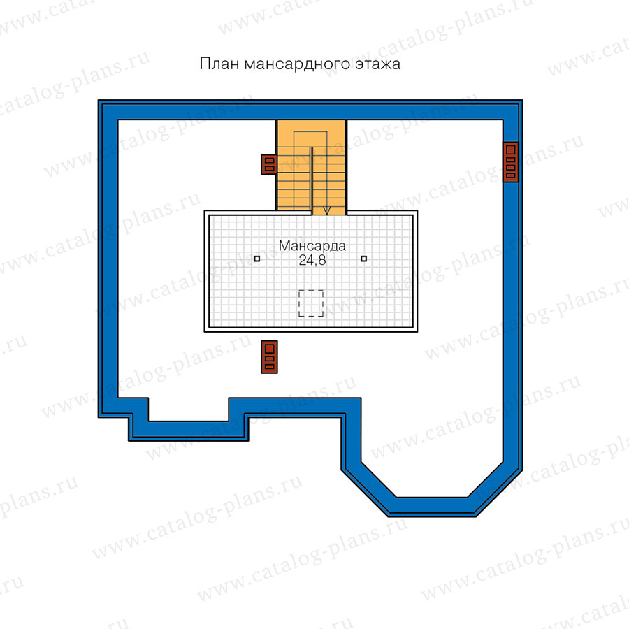 3этаж. План проекта №40-11T