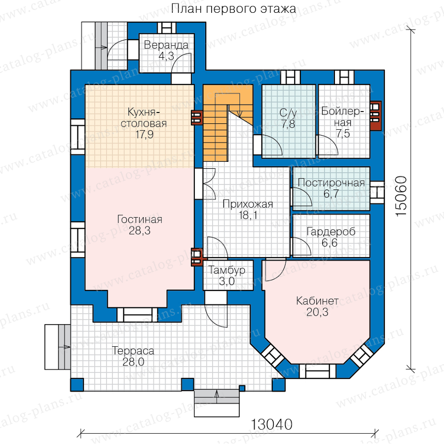 1этаж. План проекта №40-11Z