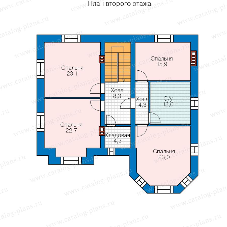 2этаж. План проекта №40-11Z