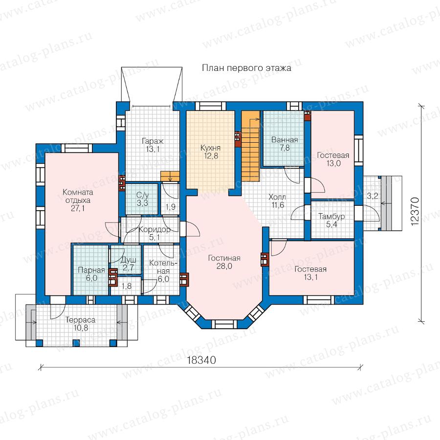 1этаж. План проекта №40-23AG