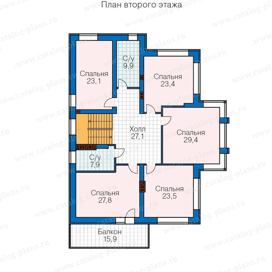 3этаж. План проекта №40-30AG
