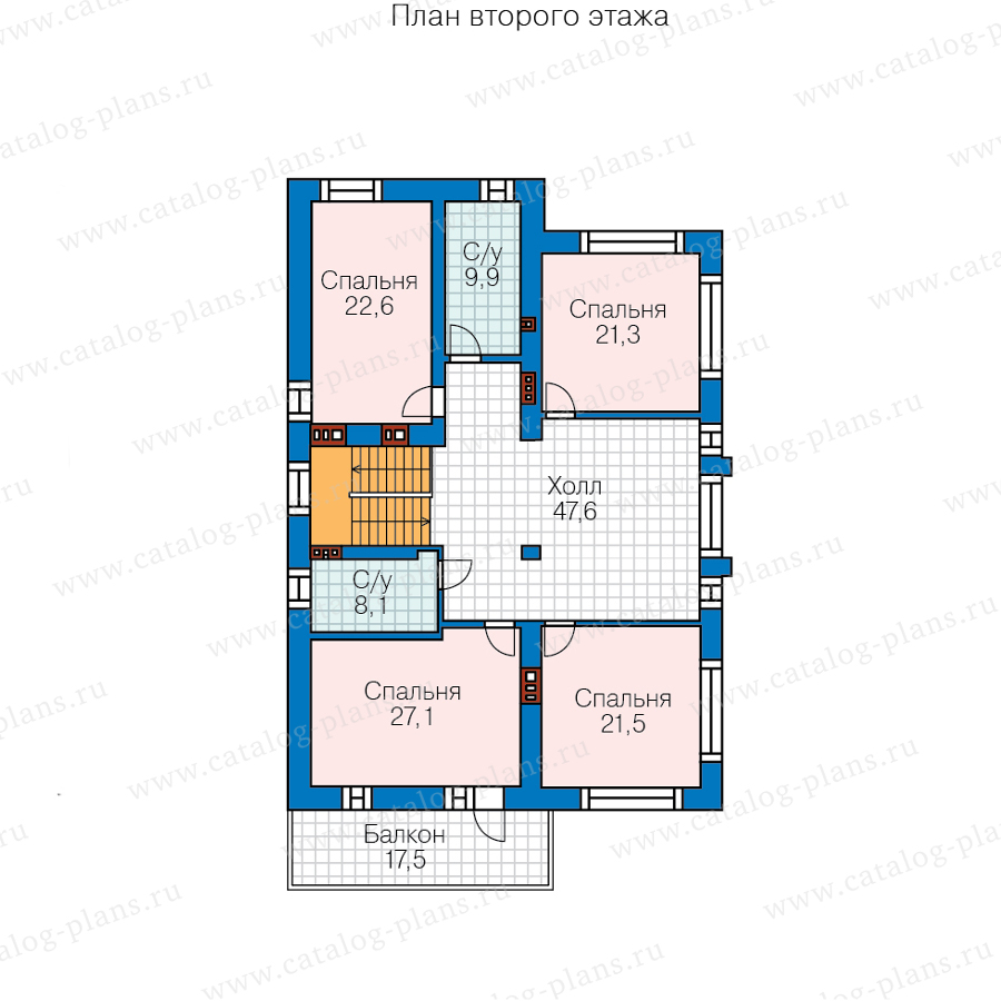 3этаж. План проекта №40-30C