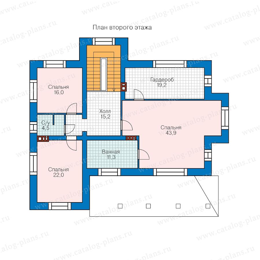2этаж. План проекта №40-43AL