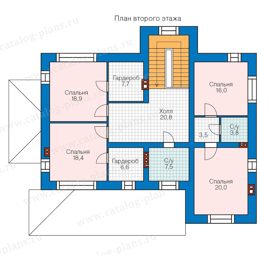 2этаж. План проекта №40-43GL