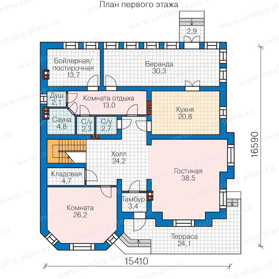 1этаж. План проекта №40-49AL